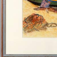 Algarvefischer – Original Pastellkreidemalerei, gerahmt. Bild 4