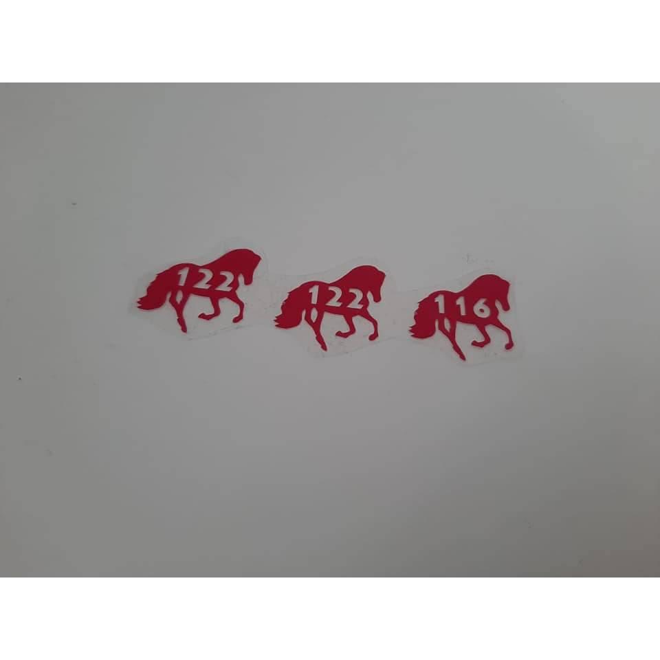 Plotterdatei Größen Label Pferd Bild 1