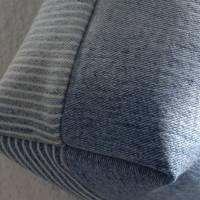 Strandtasche 'Sigrun' mit Kolibri der Vogelmalerin, Jeans-Upcycling-Unikat hessmade Bild 6