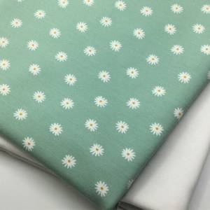 Mini-Stoffpaket Biojersey SMALL FLOWER, mint / 0,5 m Jersey & Bündchen Bild 2