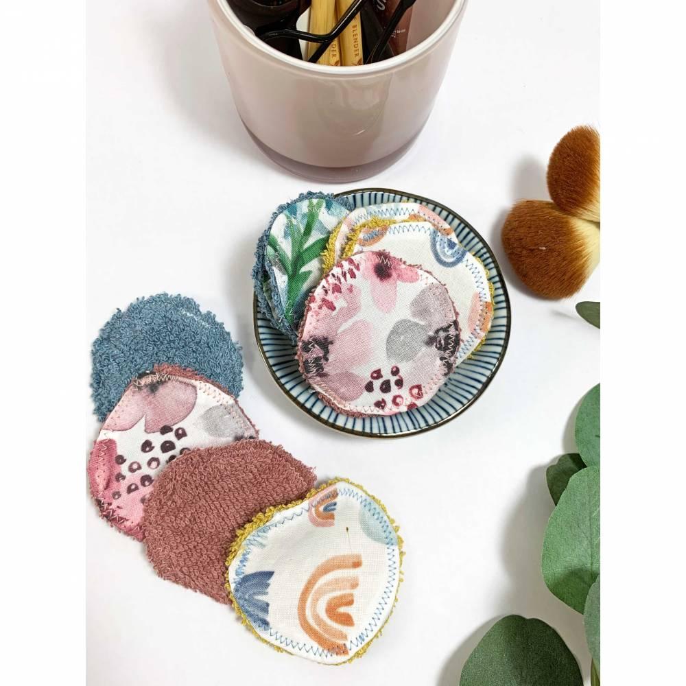 Abschminkpads/ Wattepads bunt 9 St nachhaltig, umweltfreundlich/ Kosmetikpads/ Zerowaste Gesichtspfelge/ Reinigungspads  Bild 1