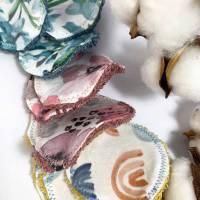Abschminkpads/ Wattepads bunt 9 St nachhaltig, umweltfreundlich/ Kosmetikpads/ Zerowaste Gesichtspfelge/ Reinigungspads  Bild 3