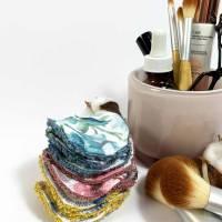 Abschminkpads/ Wattepads bunt 9 St nachhaltig, umweltfreundlich/ Kosmetikpads/ Zerowaste Gesichtspfelge/ Reinigungspads  Bild 4