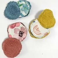 Abschminkpads/ Wattepads bunt 9 St nachhaltig, umweltfreundlich/ Kosmetikpads/ Zerowaste Gesichtspfelge/ Reinigungspads  Bild 5