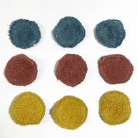 Abschminkpads/ Wattepads bunt 9 St nachhaltig, umweltfreundlich/ Kosmetikpads/ Zerowaste Gesichtspfelge/ Reinigungspads  Bild 8