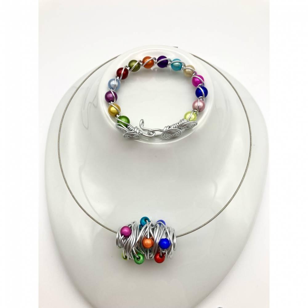 Set Tutti i colori Kette Armband Anhänger Bild 1