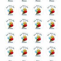 24 Sticker Etiketten Aufkleber, rund D= 4 cm, Kartengestaltung, Ein Herz für Bienen, neu Bild 2