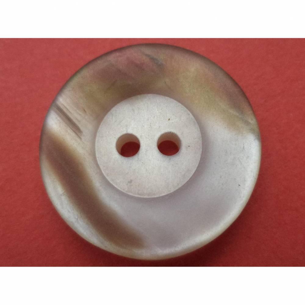 Knöpfe 21mm hellgrau braun (3707) Bild 1