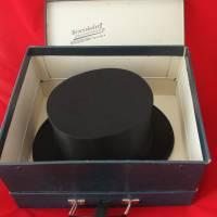 Klappzylinder Chapeau Claque Athea mit Schachtel Vintage Größe 58 Bild 6