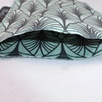 praktische Hülle für deinen Impfpass, aus beschichteter Baumwolle, mint, schwarz, doppellagig Bild 2