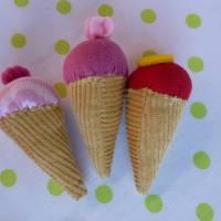 Eiswaffel für den Kaufladen, Kinderküche, Spielküche, Eiskugel, Playfood, Eis, Eiscreme, Zubehör, Kaufladenzubehör Bild 1