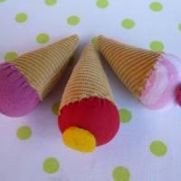 Eiswaffel für den Kaufladen, Kinderküche, Spielküche, Eiskugel, Playfood, Eis, Eiscreme, Zubehör, Kaufladenzubehör Bild 2