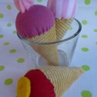 Eiswaffel für den Kaufladen, Kinderküche, Spielküche, Eiskugel, Playfood, Eis, Eiscreme, Zubehör, Kaufladenzubehör Bild 3