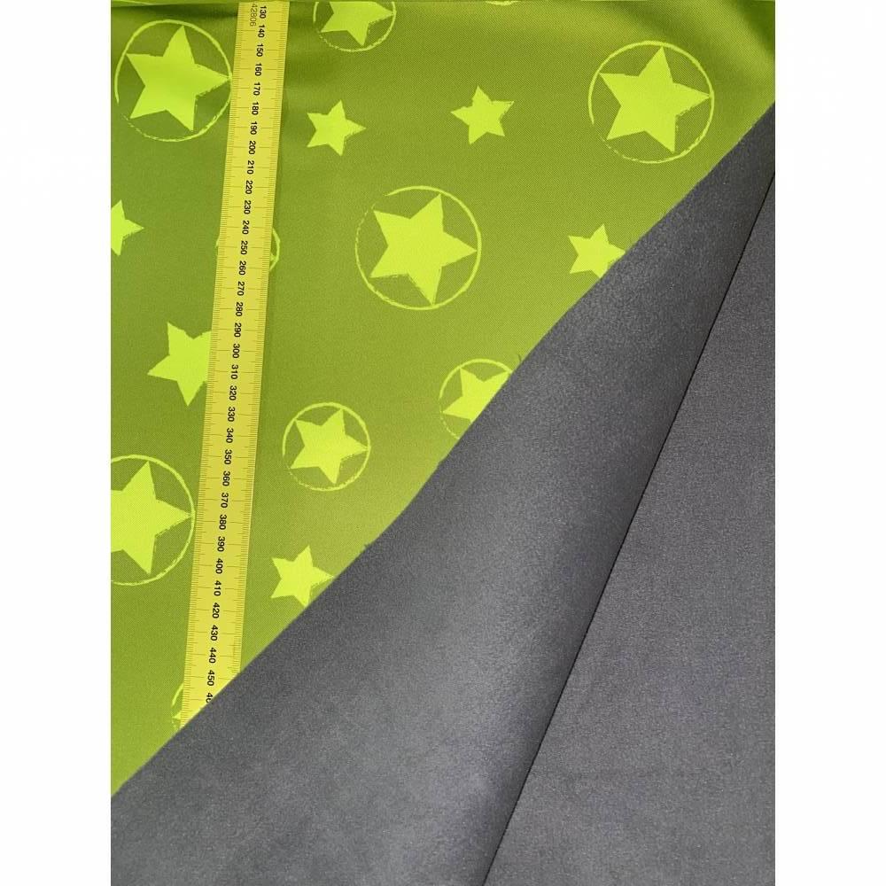 Softshell Sterne neongrün reflektierend atmungsaktiv wind-/wasserabweisend  Bild 1