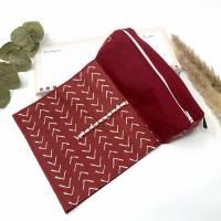 Federmäppchen rot für Schule, Stiftemäppchen für ca. 100 Stifte, Stifteetui mit Gummiband für Mädchen, Geschenk Studenti Bild 2