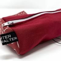 Federmäppchen rot für Schule, Stiftemäppchen für ca. 100 Stifte, Stifteetui mit Gummiband für Mädchen, Geschenk Studenti Bild 5