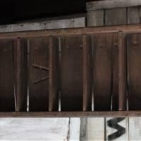 alte Ziegelform als Wandregal 8 Fächer Vintage Bild 5