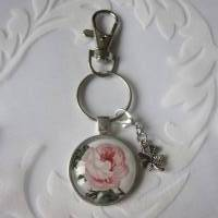 """Schlüsselanhänger Rose Cabochon """"Suzette"""" Landhaus Vintage Stil nostalgisch  Bild 6"""