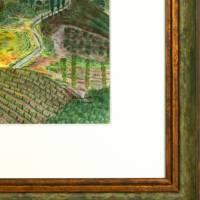 Toskana - Original Pastellkreidemalerei, gerahmtes Unikat Bild 4