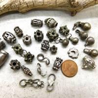 28 Jemen Silber Perlen, Zwischenteile, Schellen, Verbinder - authentische ethnische Schmuckelemente - Stammesschmuck - 3 Bild 1