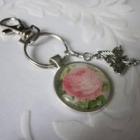 """Schlüsselanhänger Rose Cabochon """"Jeanne"""" Landhaus Vintage Stil nostalgisch  Bild 3"""