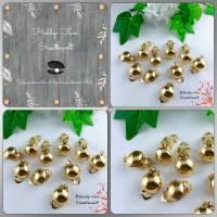 Goldfarbene Ohrclips, zum Weiterverarbeiten, ca. 13mm   Bild 1