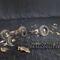 Tierhaarschmuck Tierhaar Andenken Tierhaar Ring Asche Fell 925 Sterling Solitär Ring personalisierter Glücksbringer Bild 2