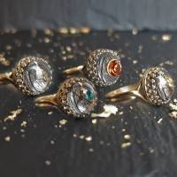 Tierhaarschmuck Tierhaar Andenken Tierhaar Ring Asche Fell 925 Sterling Solitär Ring personalisierter Glücksbringer Bild 3