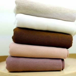 Ribjersey, Weicher Jersey Ottoman Rib Baumwollstoff, Baumwolljersey Uni, beige, ecru, braun, nude, mauve Bild 1