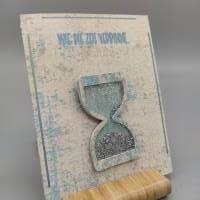 """Karte Sanduhr """"Wie die Zeit verrinnt..."""" Bild 1"""