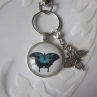 """Schlüsselanhänger Schmetterling blau """"Bleu"""" Geschenkidee Geburtstagsgeschenk  Bild 3"""