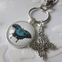 """Schlüsselanhänger Schmetterling blau """"Bleu"""" Geschenkidee Geburtstagsgeschenk  Bild 4"""