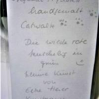 Rote Katze mit Mütze Kastanie Winter handgemalt Minibild 80 x 110 mm Aquarell laminiert niedliche Deko Lesezei   Bild 5