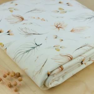 Weicher Jersey Baumwollstoff Boho Blumen, Baumwolljersey floral, Sommer-Jersey, Jersey für Kinder Boho Floral Bild 1