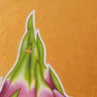 Pitahayafrosch, Pitahaya, Drachenfrucht, Froschkönig, Froschbild, Originalbild, Acrylmalerei, unikat Bild 8