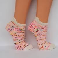 Sneakersocken Füßlinge Kurzsöckchen  handgestrickt Größe 38/39 Bild 2