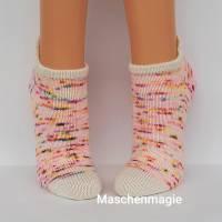 Sneakersocken Füßlinge Kurzsöckchen  handgestrickt Größe 38/39 Bild 4