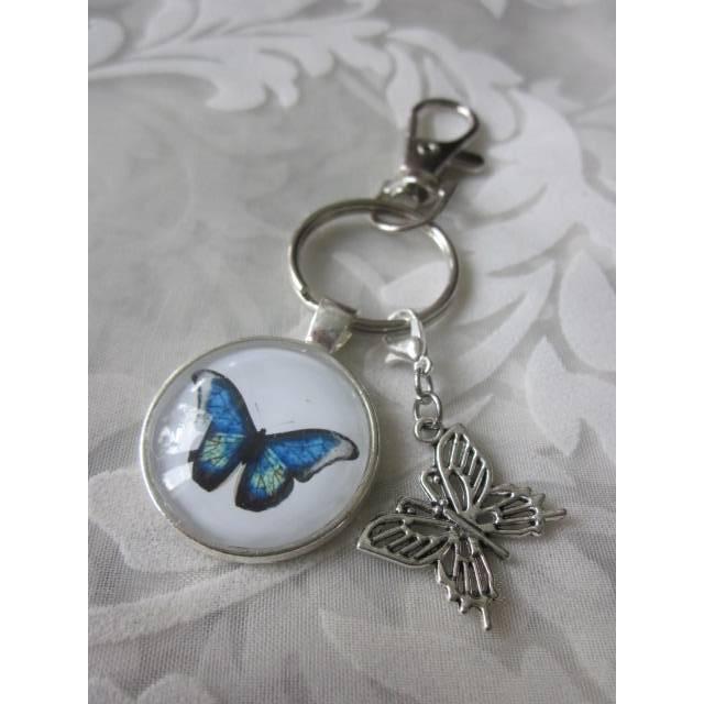 """Schlüsselanhänger Schmetterling blau """"Tendre"""" Geschenkidee Geburtstagsgeschenk  Bild 1"""