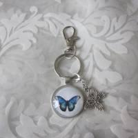 """Schlüsselanhänger Schmetterling blau """"Tendre"""" Geschenkidee Geburtstagsgeschenk  Bild 2"""