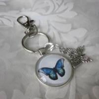 """Schlüsselanhänger Schmetterling blau """"Tendre"""" Geschenkidee Geburtstagsgeschenk  Bild 3"""