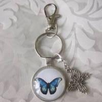 """Schlüsselanhänger Schmetterling blau """"Tendre"""" Geschenkidee Geburtstagsgeschenk  Bild 4"""
