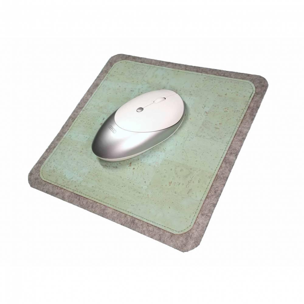 Mauspad Filz Kork Merino Wollfilz Unterseite Anti-Rutsch Stoff Unterlage Mausunterlage Schreibtisch Mouse Pad Bild 1