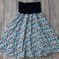 Damenrock Jerseyrock Größe 36-40 universal - Paisleymuster mint rosa Bild 2
