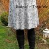 Damenrock Jerseyrock Größe 36-40 universal - Paisleymuster mint rosa Bild 4