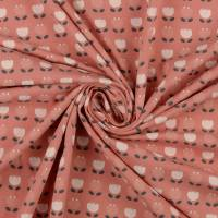 Bio Baumwolljersey Blumen rose' Organic Cotton(1m/14,-€)  Bild 2
