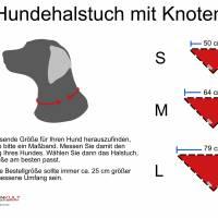 Hundehalstuch zum Binden, Punkte groß rot Bild 2