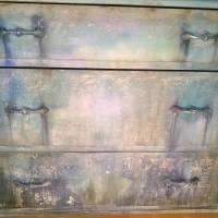 Schubladenkommode upcycling mit Kreidefarben Saltwash raise *Mermaids Castle* Shabby Chic Handarbeit Bild 3
