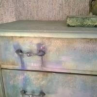 Schubladenkommode upcycling mit Kreidefarben Saltwash raise *Mermaids Castle* Shabby Chic Handarbeit Bild 8