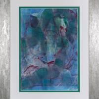 Auf den zweiten Blick - Begegnung zweier Welten - Original Encausticmalerei, gerahmtes Unikat, Museumsglas Bild 1