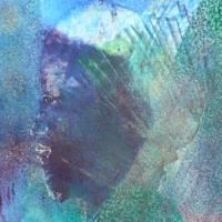 Auf den zweiten Blick - Begegnung zweier Welten - Original Encausticmalerei, gerahmtes Unikat, Museumsglas Bild 2